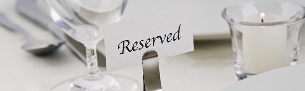 レストランの予約