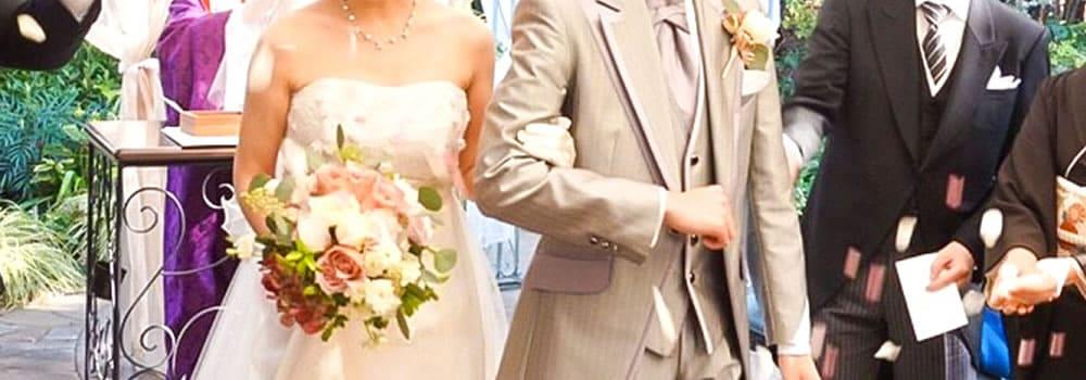 結婚式でのボカした馴初め