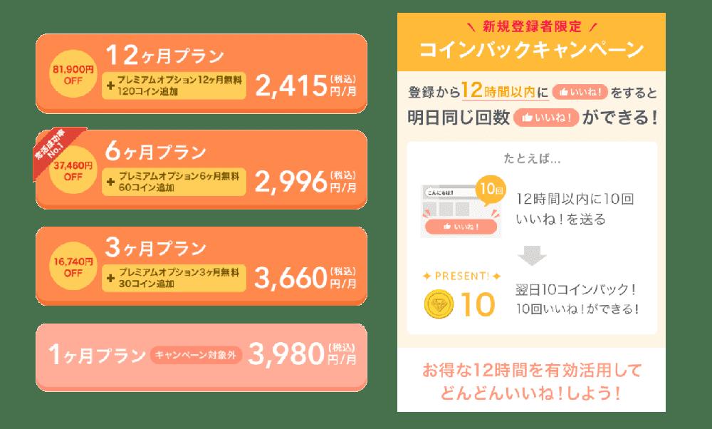 マッチブックの料金表とキャンペーン