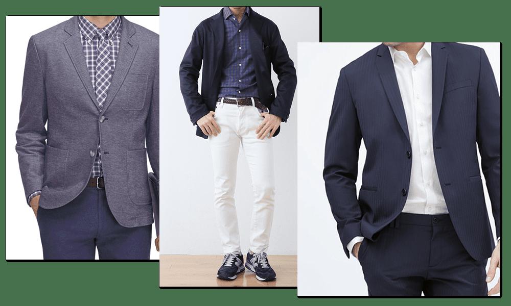 男性・スーツのコーディネート