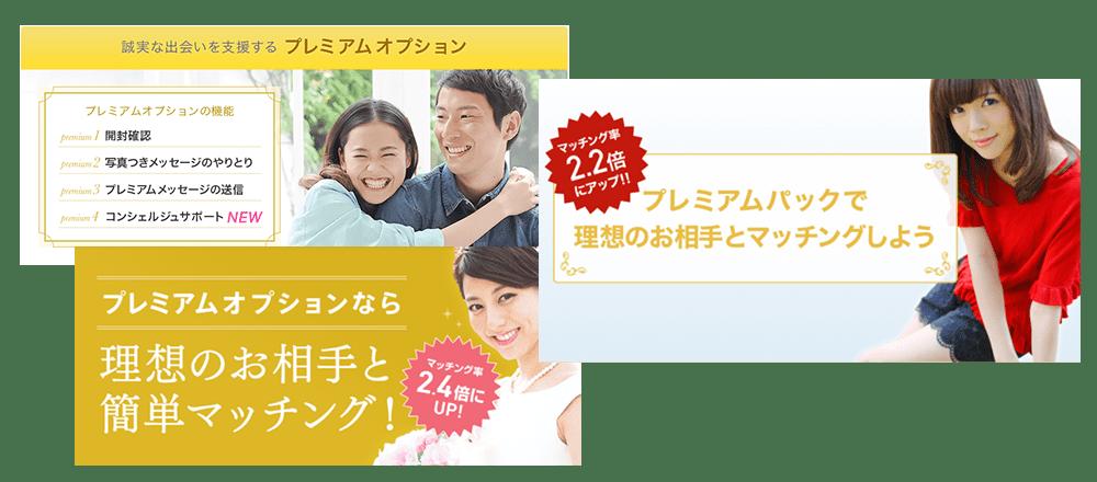 各婚活サイトのオプションプラン