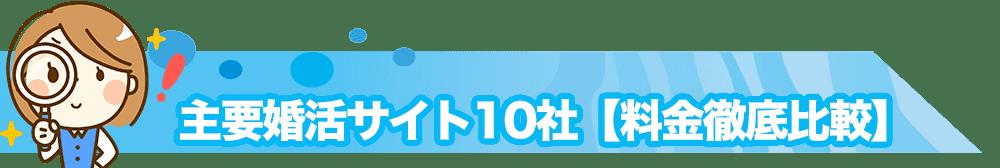 主要婚活サイト10社【料金徹底比較】